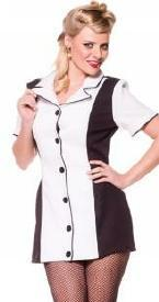Underwraps Costumes Adult Pin Up Girl Costume - White