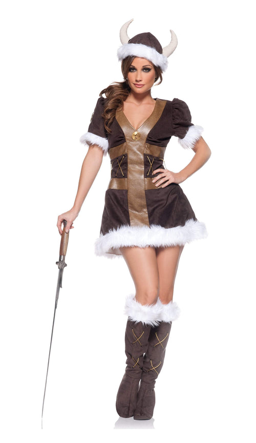 Underwraps Costumes SMALL Adult Viking Princess Costume