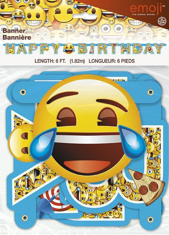 UNIQUE BIRTHDAY Emoji Birthday Banner