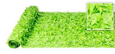 Valley Decorating DECORATION Light Green Vinyl Floral Sheeting 30ft x 3ft