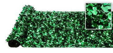 Valley Decorating DECORATION Metallic Green Floral Sheeting 30ft x 3ft