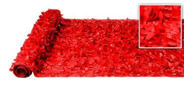 Valley Decorating DECORATION Red Vinyl Floral Sheeting 30ft x 3ft