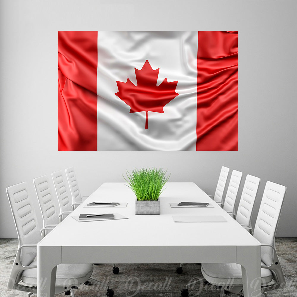 Flag of Canada Wall Mural - Wall-Murals - Decall.ca