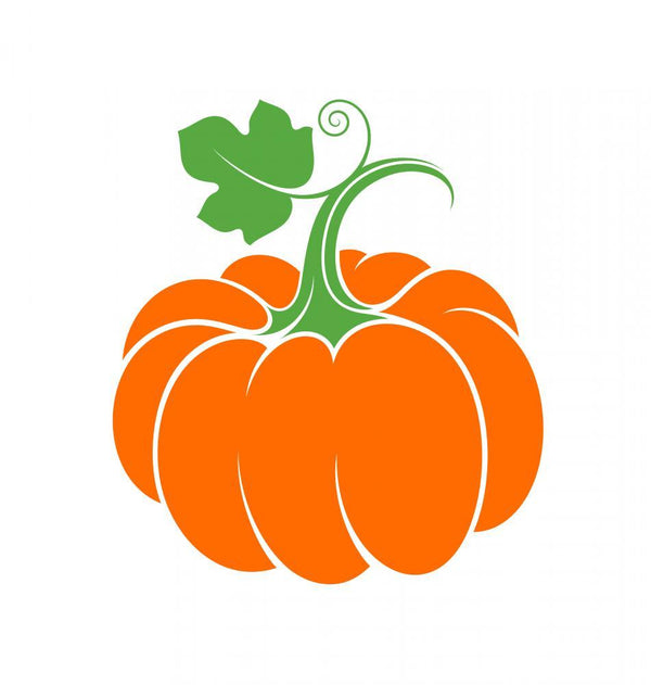 Simple Abstract Pumpkin Holiday Wall Mural Sticker