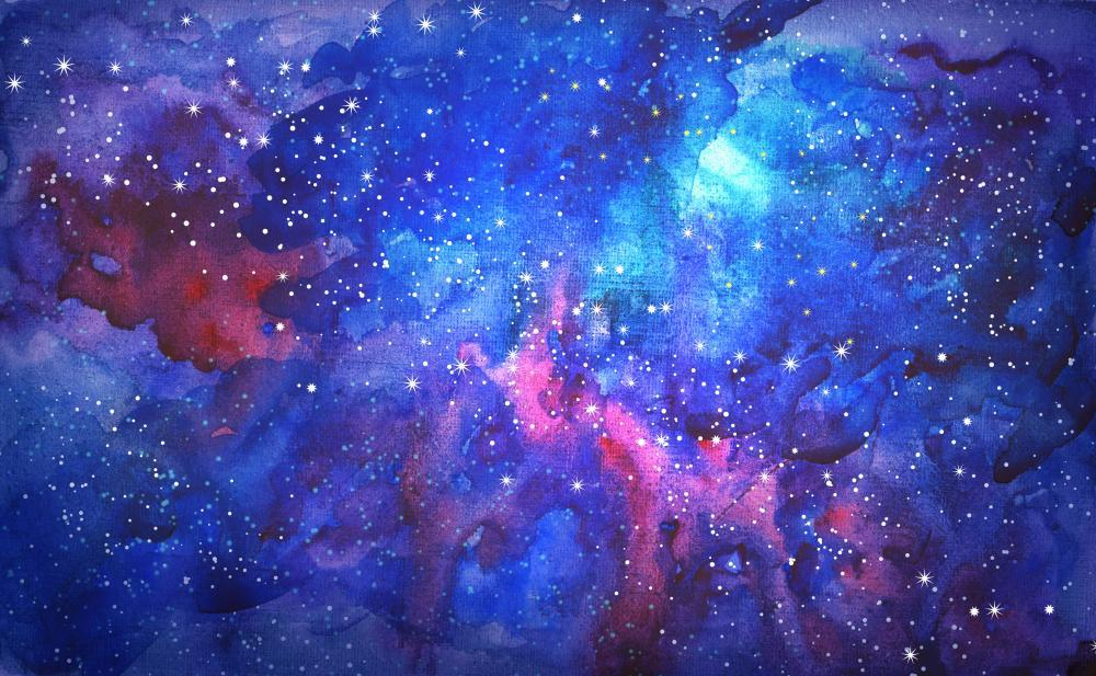 Blue Universe Space Abstract Space Wall Mural