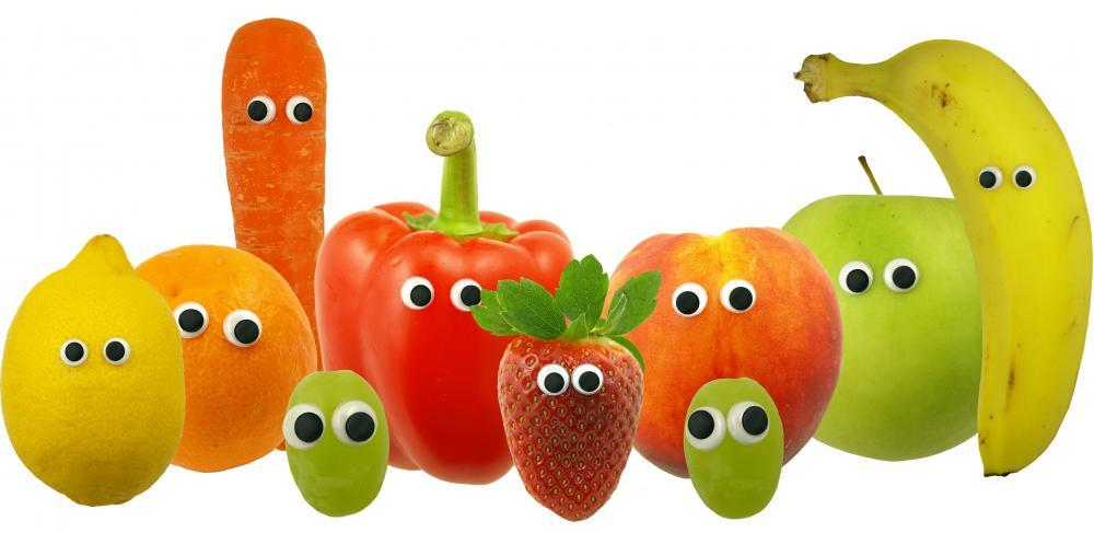 Friendly Fruit and Vegetables Food & Drink Wall Mural Sticker