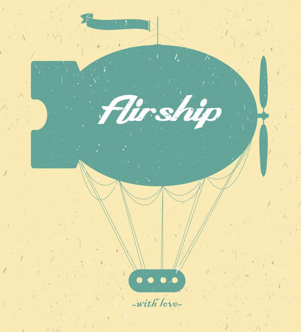 Vintage Fairy Airship Vector Transportation Wall Mural