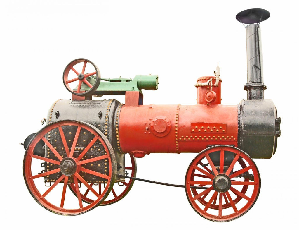 Antique Steam Tractor Object Wall Mural Sticker - Object-Wall-Stickers - Decall.ca