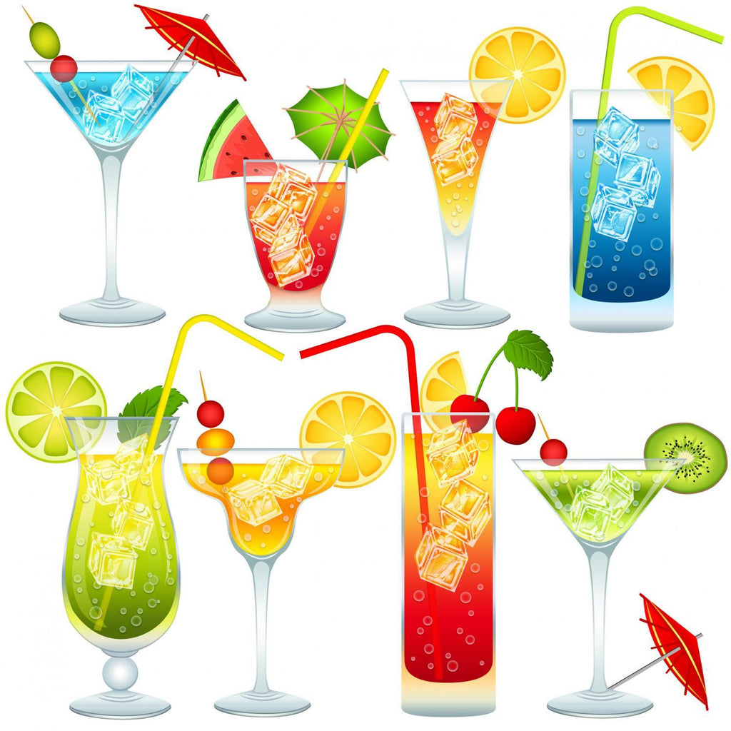 Cocktail Collection Food & Drink Wall Mural Sticker
