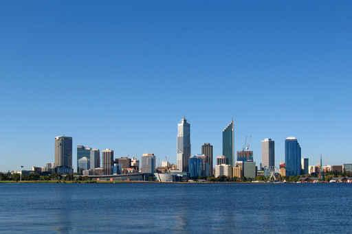 City Skyline Perth Western City Skyline Wall Mural - City-Skyline-Wall-Murals - Decall.ca