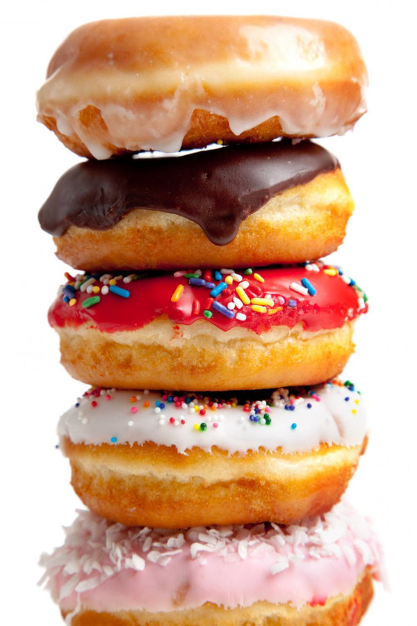 Assorted Donuts White Food & Drink Wall Mural Sticker - Food-Drink-Wall-Stickers - Decall.ca