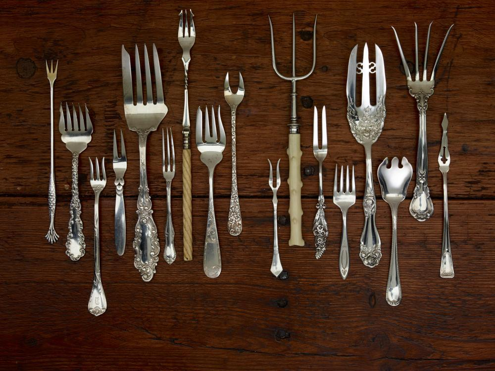 Various Forks Used for Wall Mural Object Wall Mural
