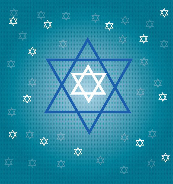 Jewish Stars Holiday Wall Mural