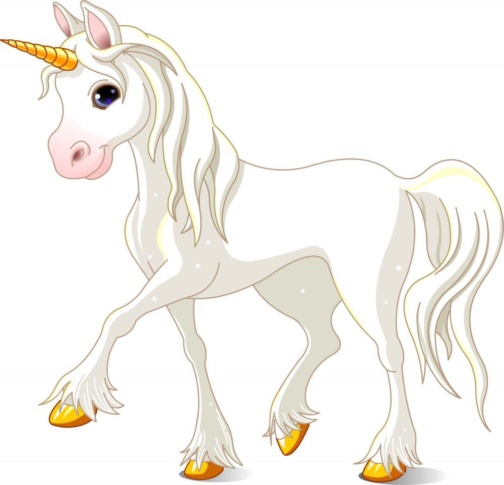Beautiful White Unicorn Animal Wall Mural - Animal-Wall-Stickers - Decall.ca