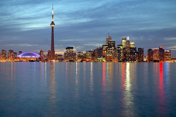 City Skyline Dusk from City Skyline Wall Mural - City-Skyline-Wall-Murals - Decall.ca