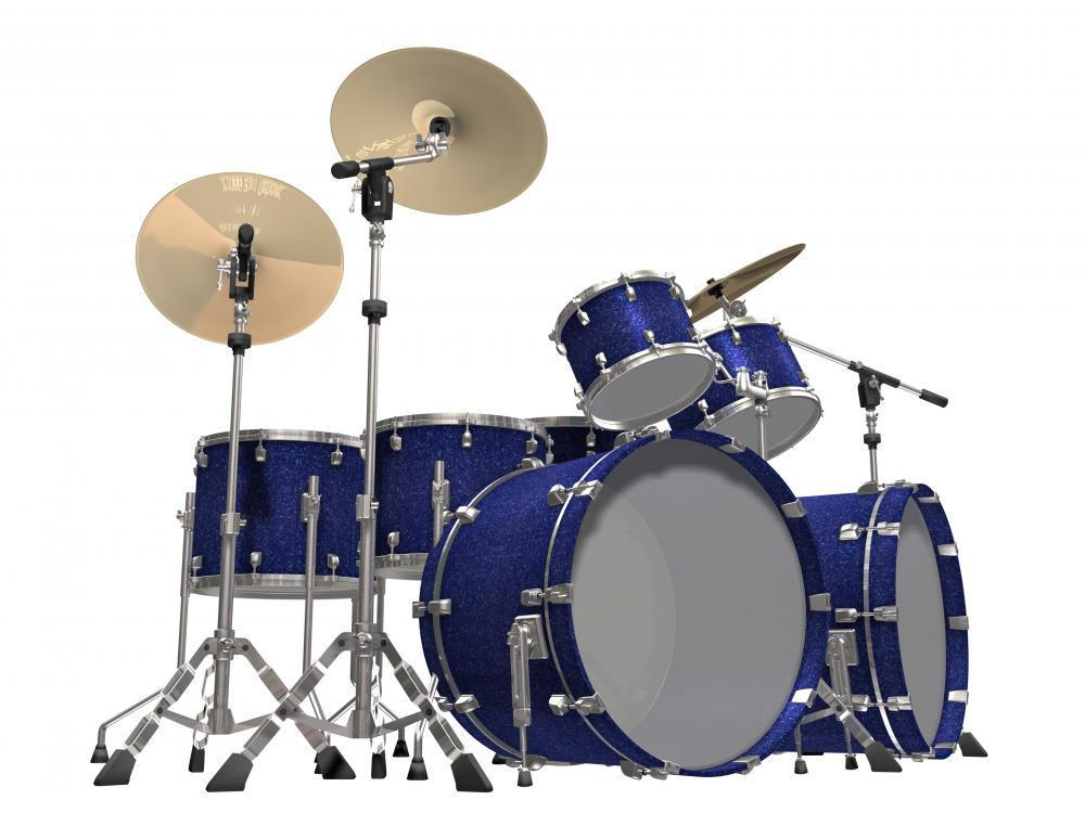 Drum Kit Object Wall Mural Sticker