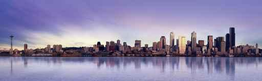 Seattle Panorama City Skyline Wall Mural