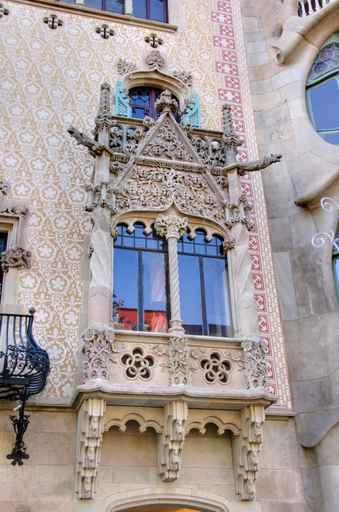 Detail House Front Gaudi Fine Art Wall Mural
