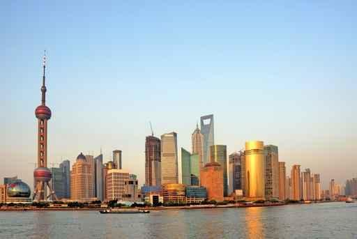 Shanghai Pearl Tower and City Skyline Wall Mural