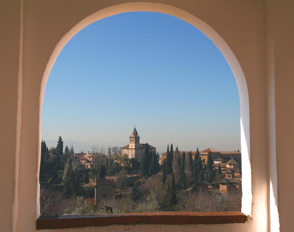Alhambra Window Scene Wall Mural Sticker