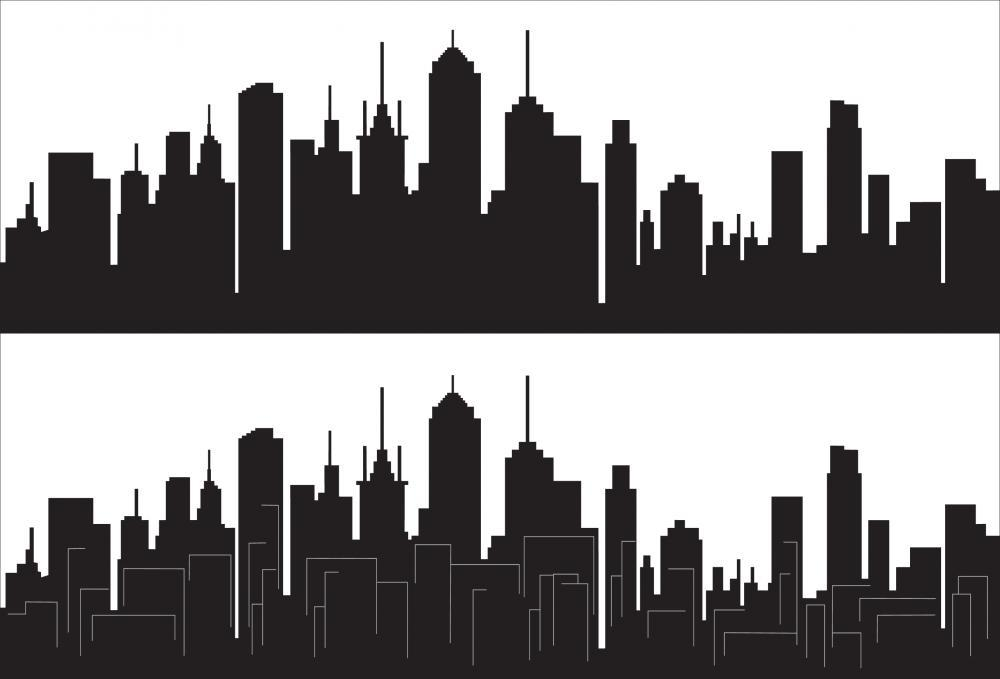 City Skyline Wall Mural Sticker - City-Skyline-Wall-Stickers - Decall.ca