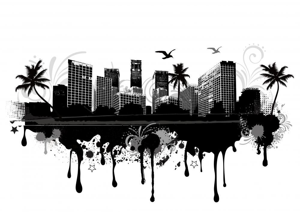 Urban Cityscape City Skyline Wall Mural