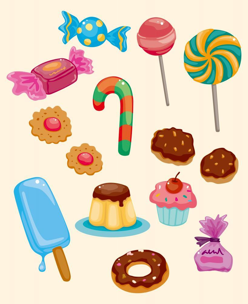 Cartoon Candy Icon Food & Drink Wall Mural - Food-Drink-Wall-Murals - Decall.ca