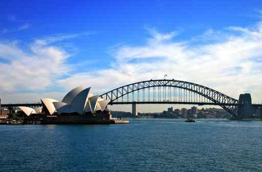 Sydney Opera House and City Skyline Wall Mural
