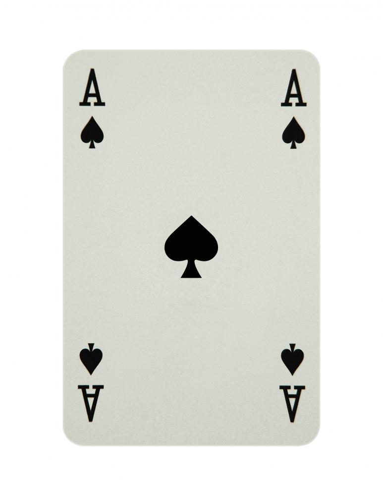 Ace Spades Card Object Wall Mural Sticker - Object-Wall-Stickers - Decall.ca