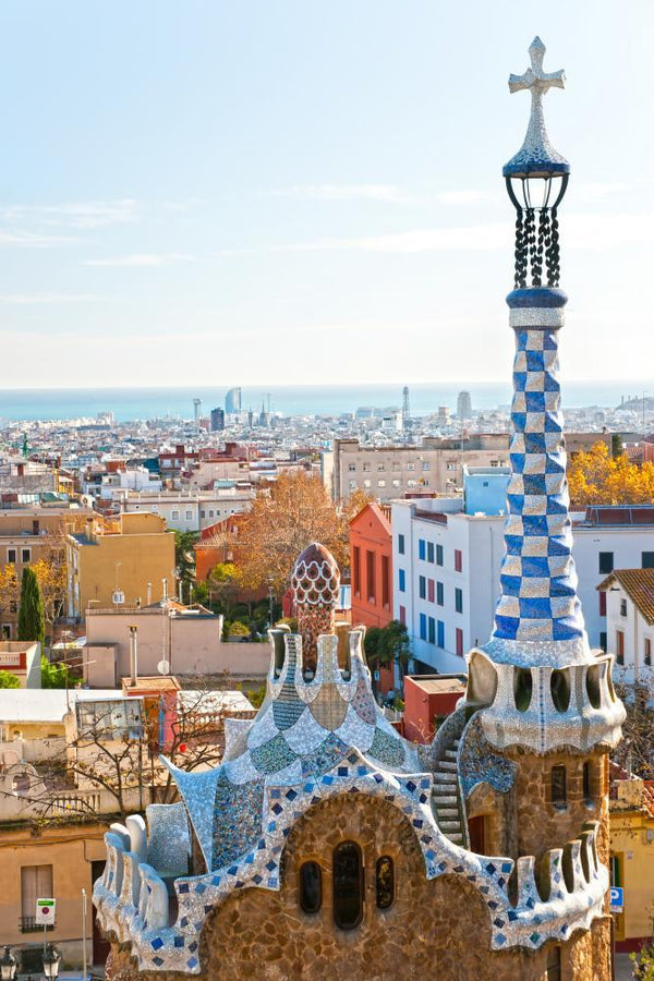 Park Guell Barcelona Spain Fine Art Wall Mural