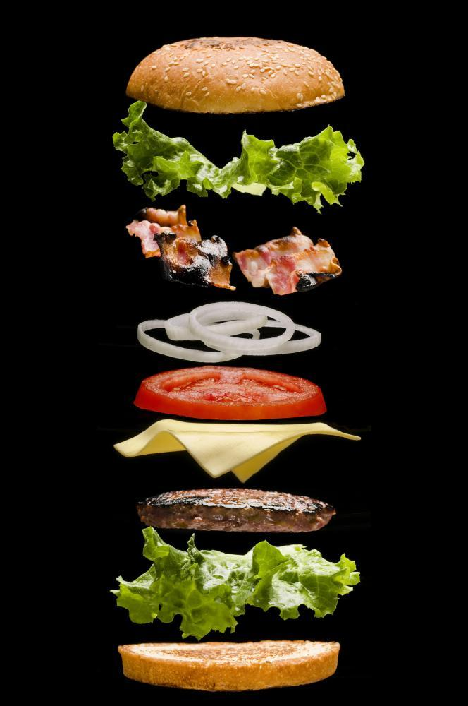 Burger Deconstructed Food & Drink Wall Mural - Food-Drink-Wall-Murals - Decall.ca