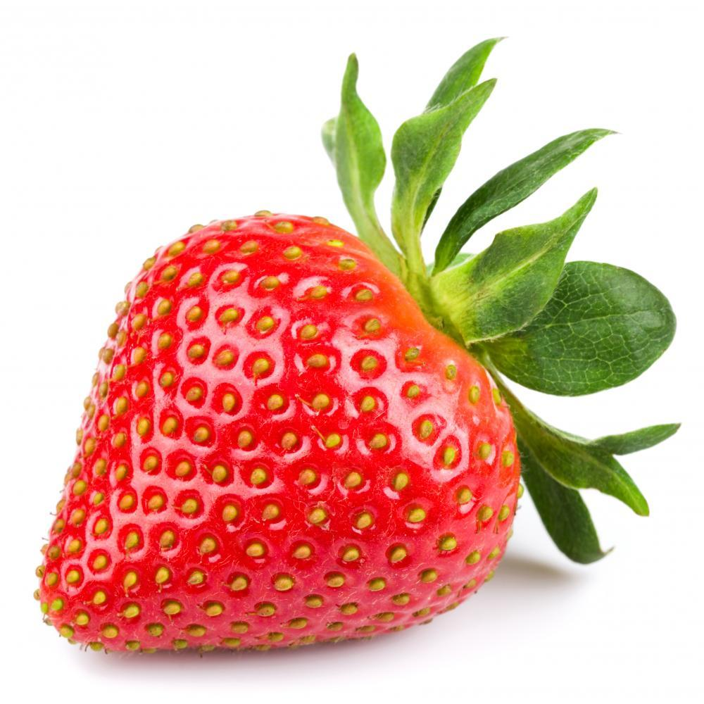 Fresh Strawberry White Food & Drink Wall Mural Sticker