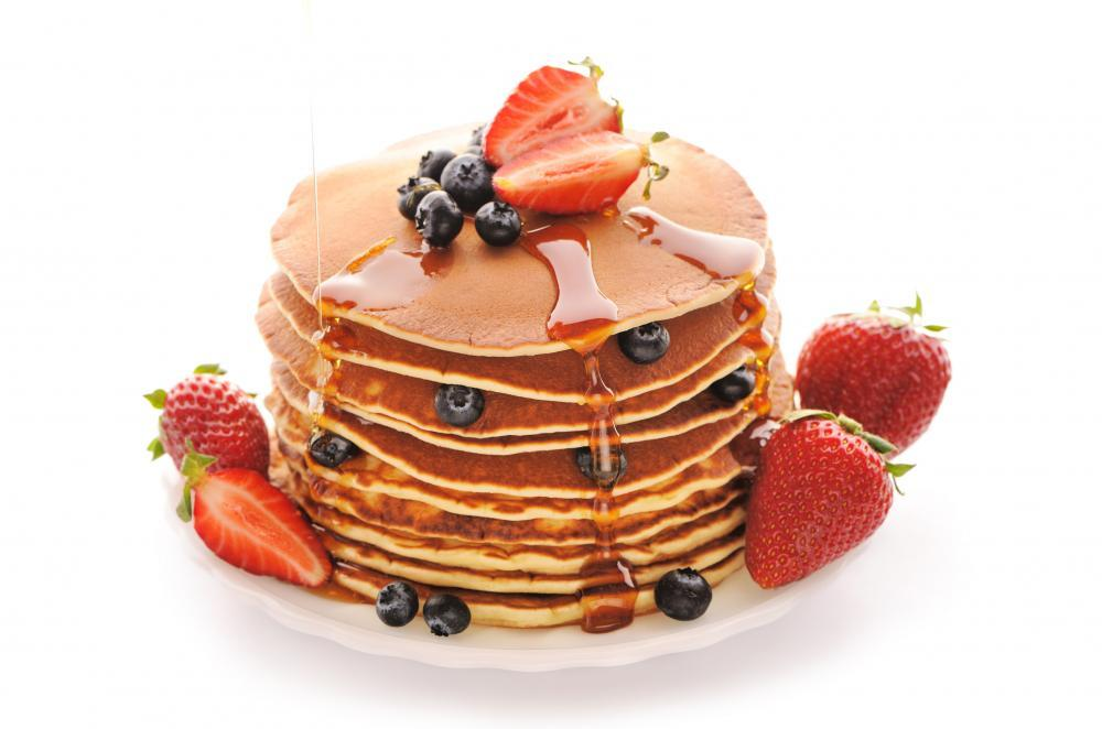 Pancakes with Strawberry and Food & Drink Wall Mural Sticker