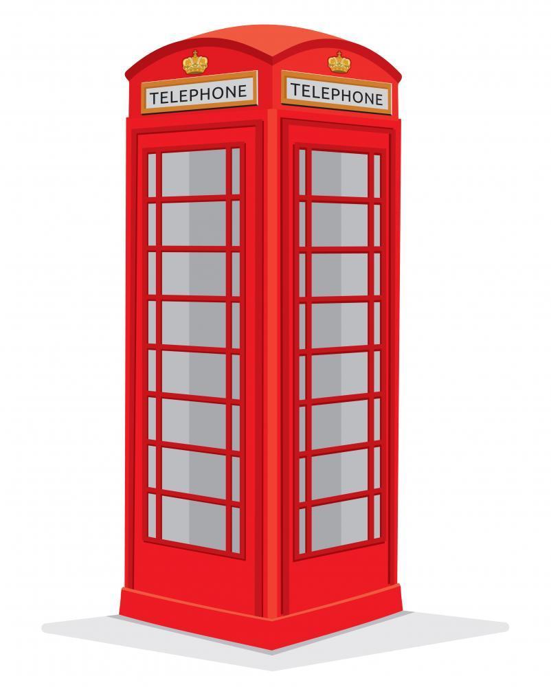 Red Telephone Box London Object Wall Mural Sticker
