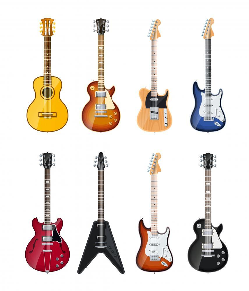 Acoustic and Electric Guitars Object Wall Mural Sticker - Object-Wall-Stickers - Decall.ca