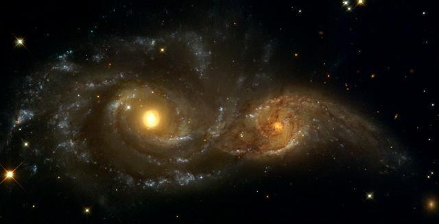 Galaxies Nearly Colliding Space Wall Mural