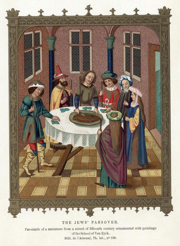 Medieval Passover Scene Holiday Wall Mural