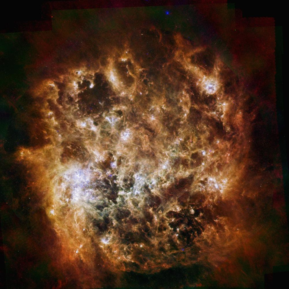 Large Magellanic Cloud Galaxy Space Wall Mural