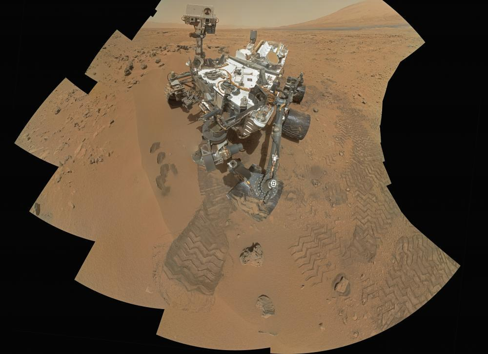 Curiosity Rover Rocknest Site Space Wall Mural