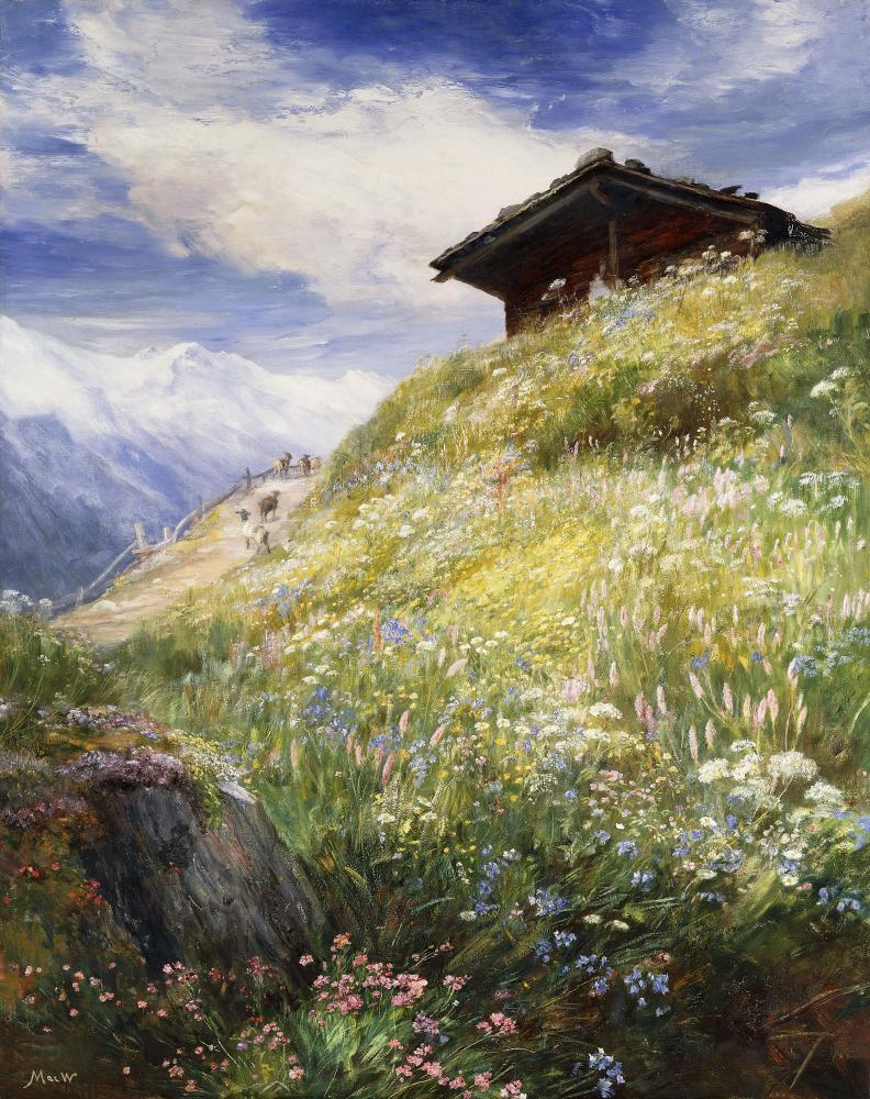 Alpine Meadow Switzerland John Fine Art Wall Mural