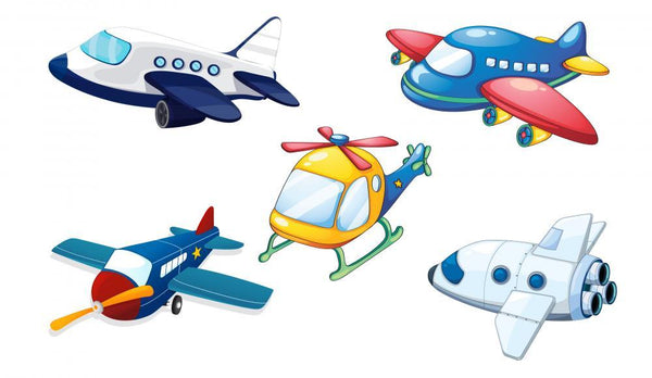 Various Air Planes Transportation Wall Mural Sticker