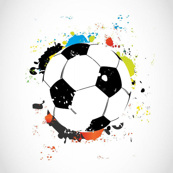 Abstract Colorful Grunge Soccer Sports Wall Mural