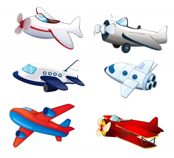 Aeroplanes Space Wall Mural Sticker