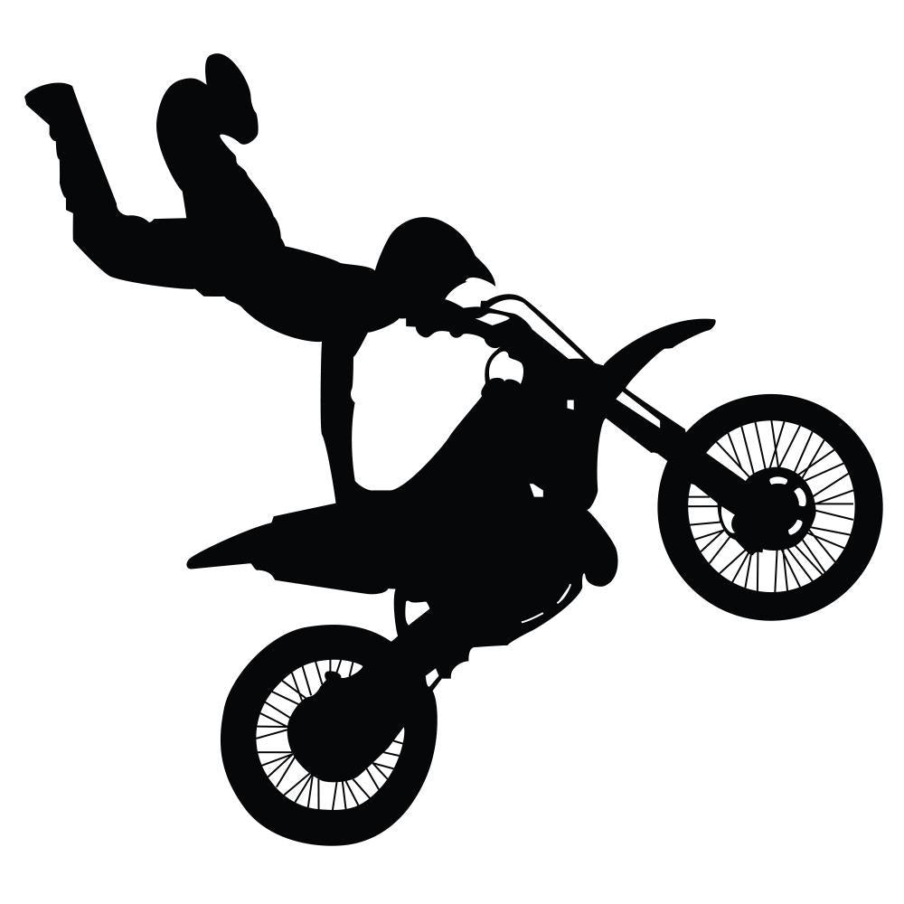 Stunt Rider Transportation Wall Mural Sticker