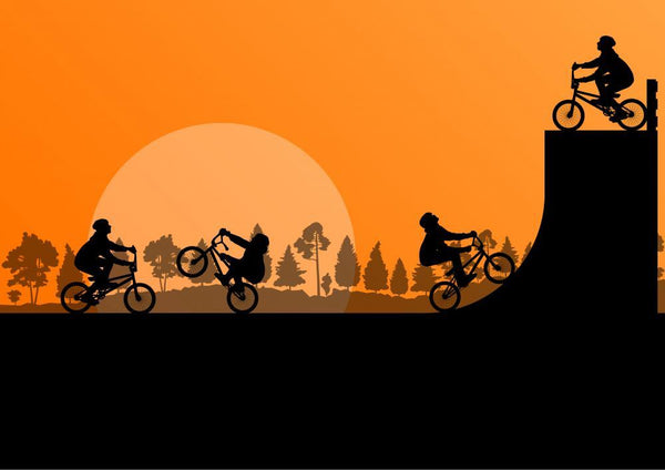 Cycling Bmx Silhouette Sports Wall Mural