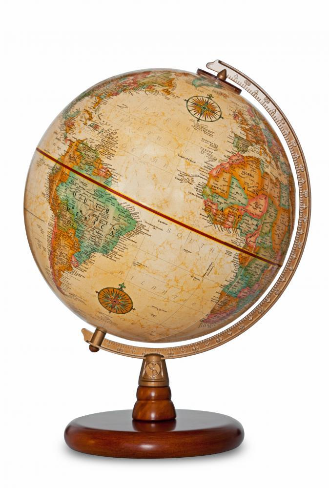 Antique World Globe Clipping Object Wall Mural - Object-Wall-Stickers - Decall.ca