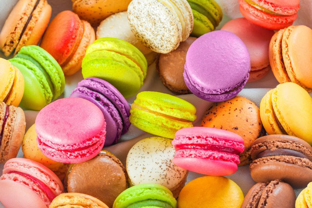 Traditional French Colorful Macarons Food & Drink Wall Mural
