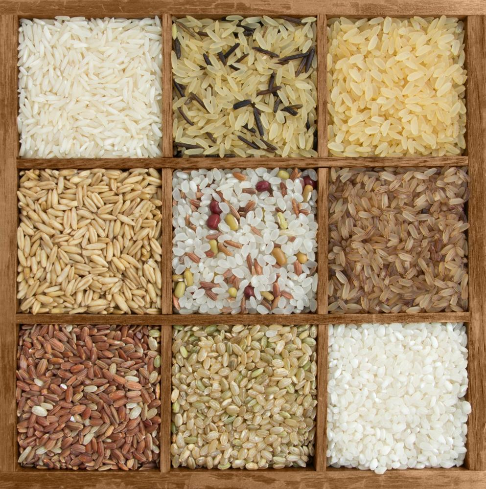 Assorted Rice Wooden Box Food & Drink Wall Mural - Food-Drink-Wall-Murals - Decall.ca