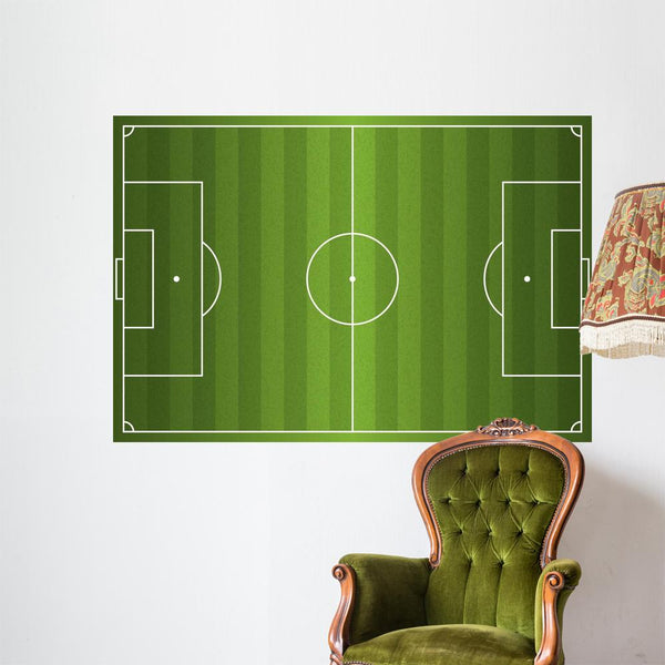 Realistic Soccer Football Field Wall Mural Football Pitch Wall Decal DWM1036