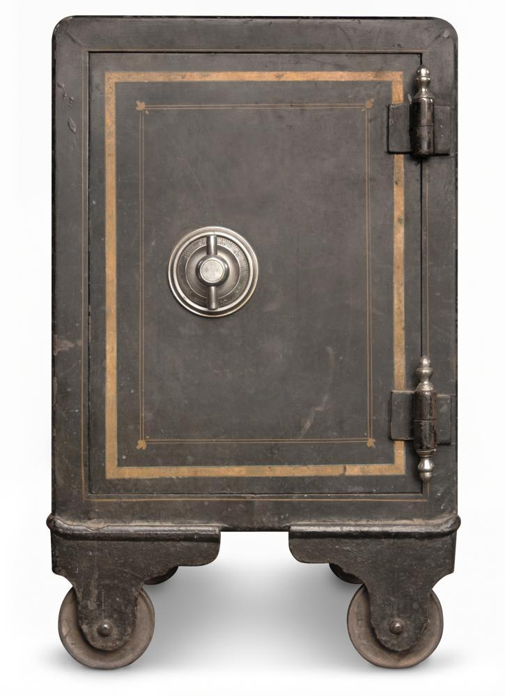 Antique Iron Safe Object Wall Mural - Object-Wall-Stickers - Decall.ca